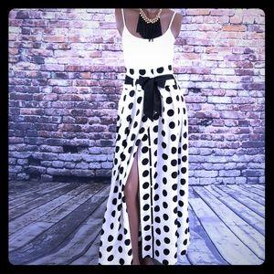 🆕️‼Gracia Polka Dot Pleated A-Line Skirt